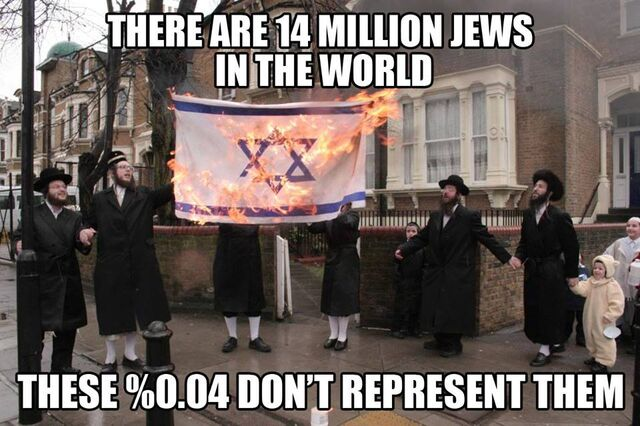 File:Ultra-orthodox haredi Hebrews-Israelites-Jews who are self-haters due to living in exile other than in Israel don't represent Judaism nor can tell Zionists-Israelis what's right.jpg