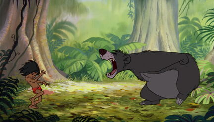 Baloo the Bear Roars at Mowgli