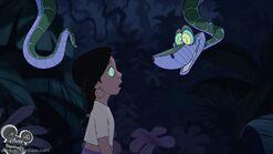 Kaa the Python hypnotizes Shanti