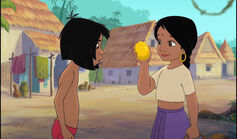 Mowgli just saw Shanti catch a mango
