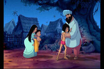 Mowgli and Ranjan are both with their parents