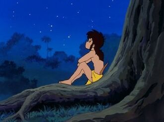 Mowgli Watching the Stars