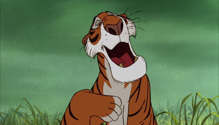 Shere Khan the Tiger is singing a song
