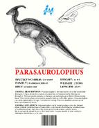 Ingen Dinosaur Info Sheets Parasaurolophus