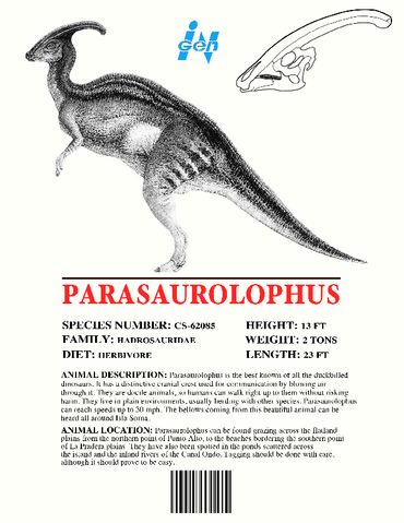 File:Ingen Dinosaur Info Sheets Parasaurolophus.png