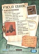 2001 Jurassic Park III 3-D 66 Gallimimus back