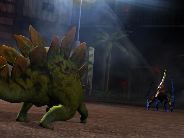 File:Stegosaurus and Tropeognathus in the Arena.jpeg