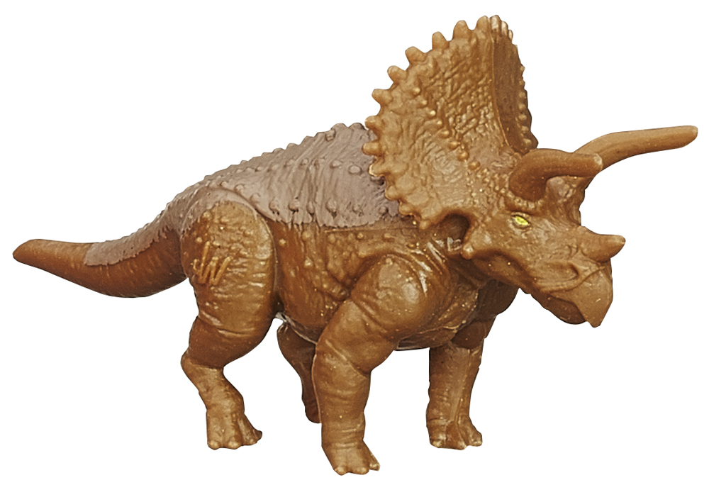 jurassic world dinos triceratops 3 mini figures random