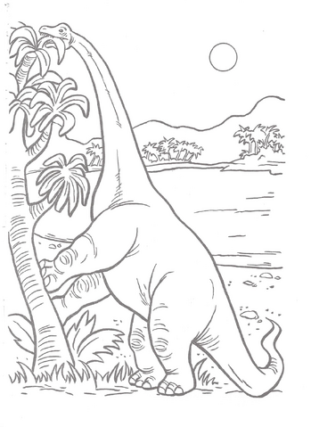 File:Jurassic Park A Big Color and Activity Book Brachio Eating.png