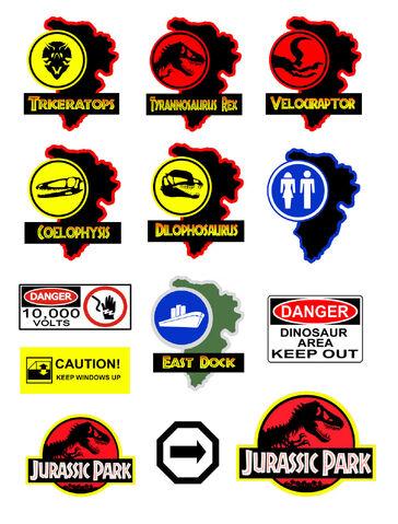 File:G scale model Jurassic Park signs.jpg