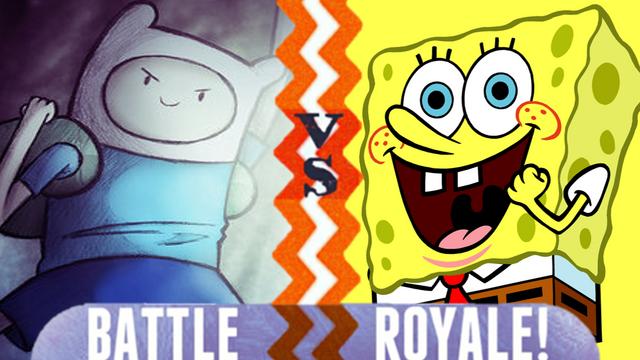 File:Finn vs Spongebob.PNG