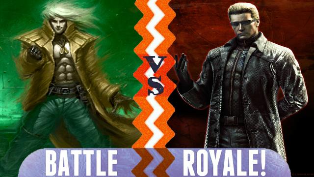 File:Battle Royale Liquid Snake vs Albert Wesker.png