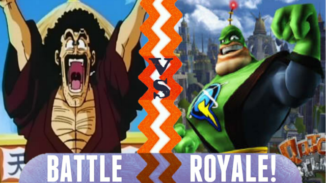 File:Battle Royale Hercule Satan vs Captain Qwark.png