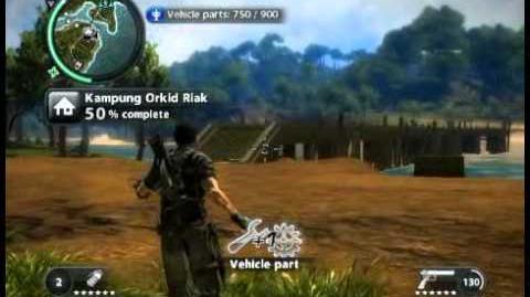 Just Cause 2 - Kampung Orkid Riak - civilian village