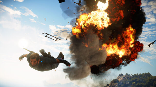 File:JC3 skydiving and explosion.jpg