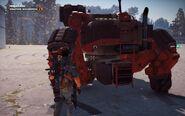Black Hand Autocannon Mech Rear Close-up