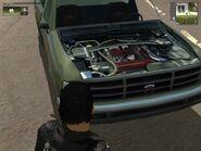 Shimizu Tumbleweed, Guerrilla version, (patrol), view of the Engine.
