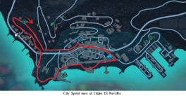 City Sprint race map