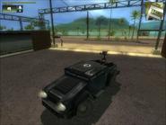 Black Hand MV with rear-facing mounted gun