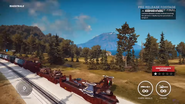 JC3 train transporting CS7 Thunderhawk