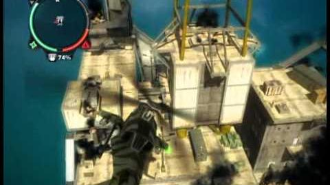 Just Cause 2 - Pelantar Gas Tiang Geneng - offshore rig