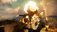 Just Cause 3 helicopter and explosion