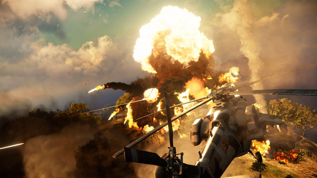 File:Just Cause 3 helicopter and explosion.png