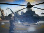 Pelabuhan Saudagar Harbor Stronghold Commander's UH-10 Chippewa