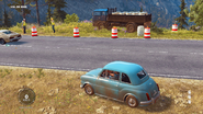 JC3 Stria Cucciola and roadside event with wine barrels on the Stria Obrero