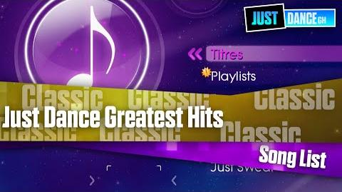 Just Dance Greatest Hits - Song List (PAL)