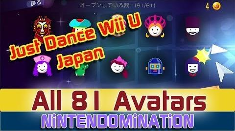 Just Dance WiiU Japan - *ALL 81 Avatars*