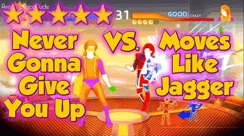 Just Dance 4 - Never Gonna Give You Up VS