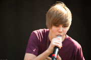 Justin performing at Easter Egg Roll