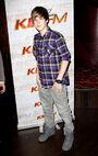Justin Bieber backstage at 2010 Grammy awards