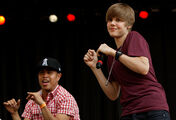 Justin performing on Easter Egg Roll April 5, 2010