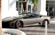 Justin Bieber drives a Ferrari F430 Miami 2010