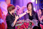 Justin Bieber singing One Less Lonely Girl on Live@Much
