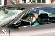 Justin Bieber drives a Ferrari F430 in Miami