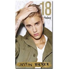 Justin Bieber Age 18 Birthday Card<br /><br />The message on this birthday card says