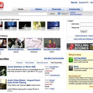 YouTube Canada home page