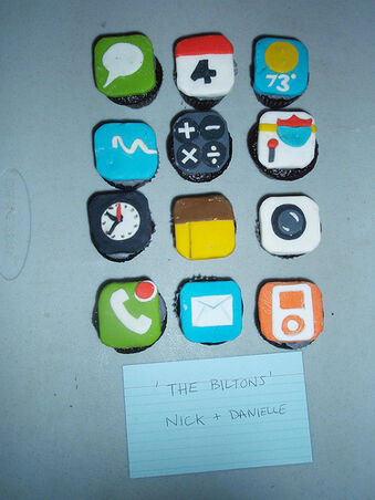 IPhone cupcakes by Nick and Danielle Bilton