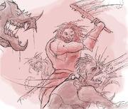 Jos'hu in Combat