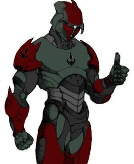 Aceleus Draays Jenssarai Armor red and silver