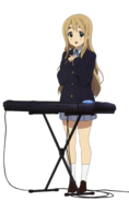 Mugi with her keyboard