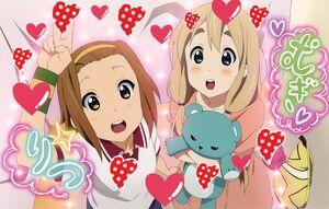 Ritsu and Mugi in the arcade