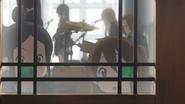 Nobuyo and Eri spot the teachers