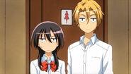 Misaki and Usui stare