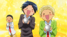Moron Trio making onigiri