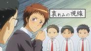 Hinata blushed