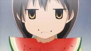 Suzuna eating waterlemon
